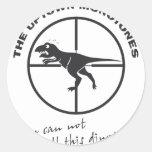The Uptown Monotones Dinosaur Sticker