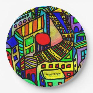 The Urban Scene Paper Plate