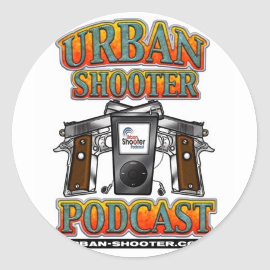 The Urban Shooter PODCAST Classic Round Sticker