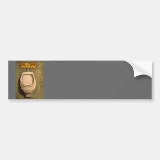 The Urinal Bumper Sticker