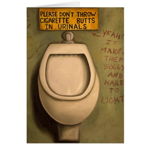 The Urinal Greeting Card
