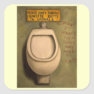 The Urinal Square Sticker