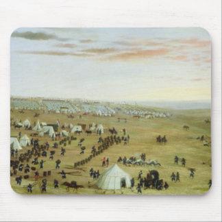 The Uruguaiana Camp, Rio Grande, Brazil, 1865 (oil Mouse Pad