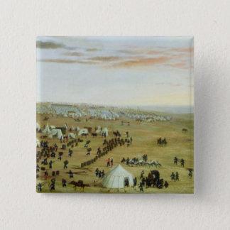 The Uruguaiana Camp, Rio Grande, Brazil, 1865 (oil Pinback Button