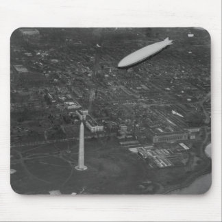 The US Airship 'USS Los Angeles' ZR3 flying over Mouse Pad