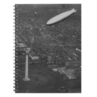 The US Airship 'USS Los Angeles' ZR3 flying over Notebook