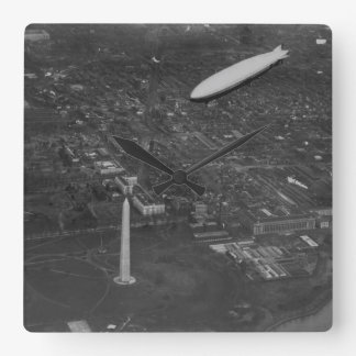 The US Airship 'USS Los Angeles' ZR3 flying over Square Wall Clock