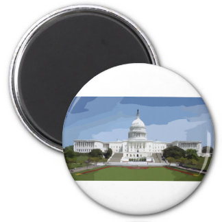The US Capitol Building 2 Inch Round Magnet