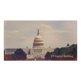 The US Capitol Building with Caption Poster