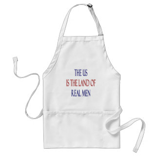 The US Is The Land Of Real Men Adult Apron