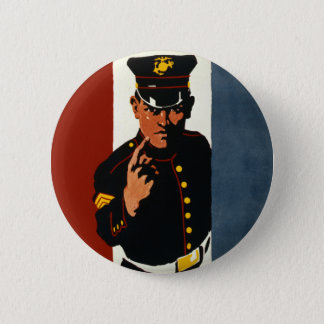 The US Marines Want You Pinback Button