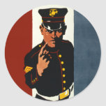 The US Marines Want You Round Sticker