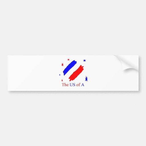 The US Of A Car Bumper Sticker