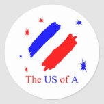 The US Of A Classic Round Sticker