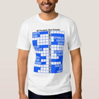 The US Presidents Word Scramble T-Shirt