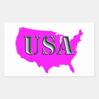The USA 8-petrol Rectangular Sticker