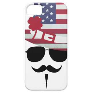 The USA fan with Mustache iPhone 5 Cover