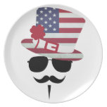 The USA fan with Mustache Plates