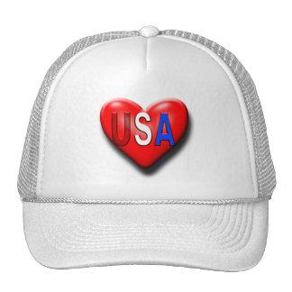 The USA Heart Trucker Hat