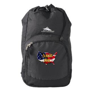 The USA map&flag High Sierra Backpack