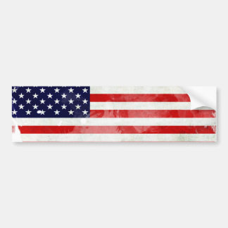 THE USA OLD FLAG CAR BUMPER STICKER