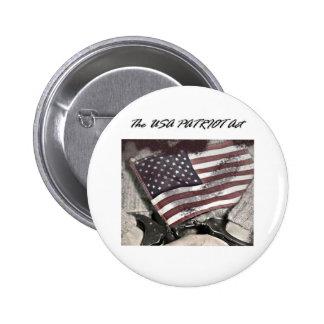 The USA Patriot Act Pinback Button