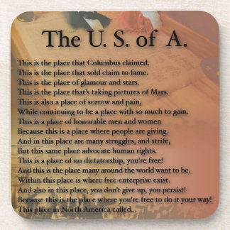 The USA Presidents Poetry Art Gifts Coaster