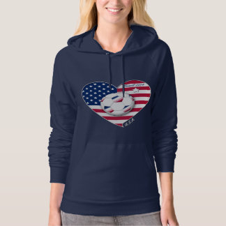 The USA Soccer Team.  Soccer the United States 201 Hoodie