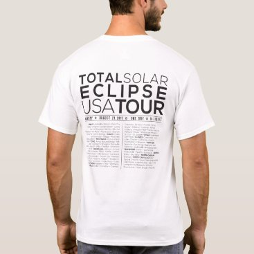 "USA Themed The ""USA Tour/Concert Style"" Total Solar Eclipse T T-Shirt"