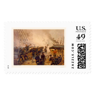 The USS Kearsarge Sinks the CSS Alabama in 1864 Postage Stamp