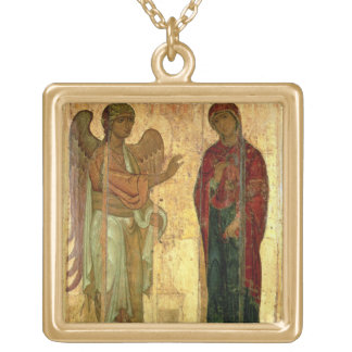 The Ustiug Annunciation, c.1130-40 (tempera on pan Gold Plated Necklace
