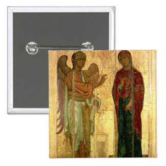 The Ustiug Annunciation, c.1130-40 (tempera on pan Pinback Button