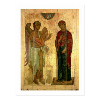 The Ustiug Annunciation, c.1130-40 (tempera on pan Postcard
