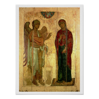 The Ustiug Annunciation, c.1130-40 (tempera on pan Poster