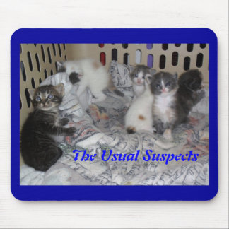 The Usual Suspects - kittens Mouse Pad