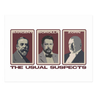 The Usual Suspects Postcards