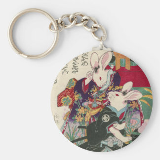 The Utagawa 芳 rattan, 'can flat the original Keychain
