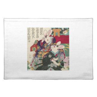 The Utagawa 芳 rattan, 'can flat the original Placemat