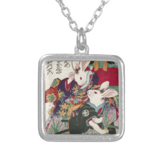 The Utagawa 芳 rattan, 'can flat the original Silver Plated Necklace