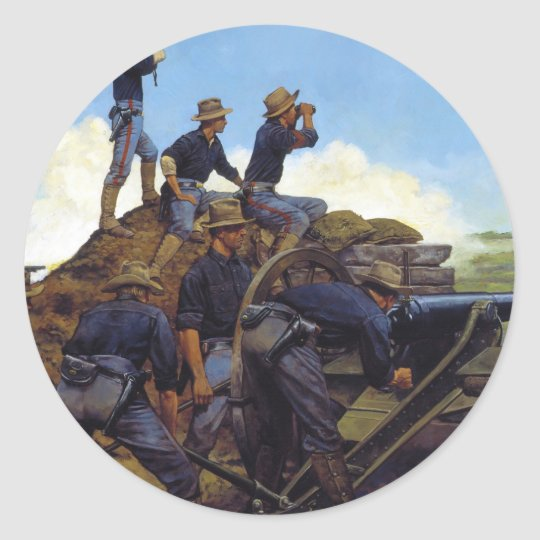The Utah Light Artillery by Keith Rocco Classic Round Sticker