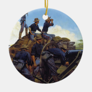 The Utah Light Artillery by Keith Rocco Double-Sided Ceramic Round Christmas Ornament