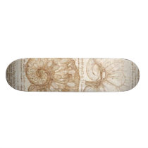 The uterus of a gravid cow skateboard deck