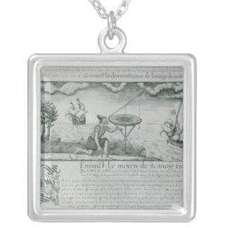 The Utilisation of the Sextant Square Pendant Necklace