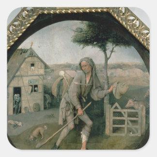 The Vagabond/The Prodigal Son, c.1510 Square Sticker