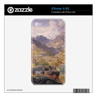 The Val d'Aosta, 1858 (oil on canvas) Decal For The iPhone 4S