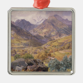 The Val d'Aosta, 1858 (oil on canvas) Metal Ornament