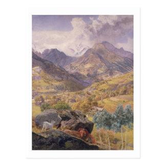 The Val d'Aosta, 1858 (oil on canvas) Postcard