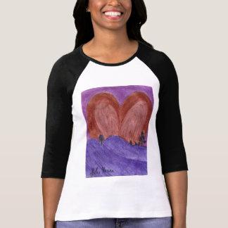 The Valentine Heart Sunset Shirt by Julia Hanna