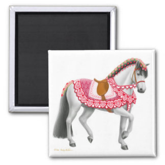 The Valentine Parade Horse Pin Magnet