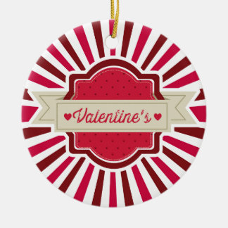 the Valentins Ceramic Ornament